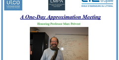A one day Approximation meeting -  Septembre 19, 2019